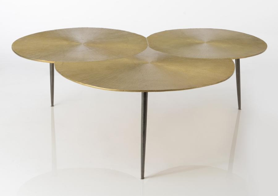 Table Plateau Art Trisun Triple Basse Doré Déco mNwn0v8