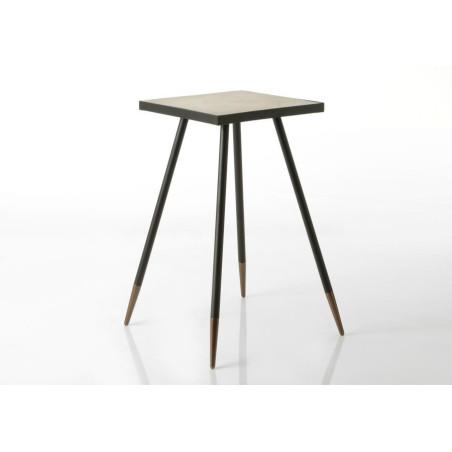 Sellette carré style art déco en bois bicolore MARTIN