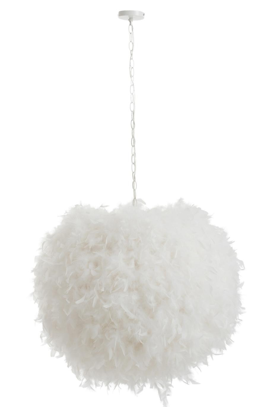 Boule De Plume A Suspendre suspension boule de plumes blanches j-linejolipa jl-85758