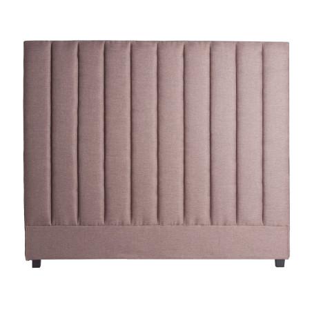 Tête de lit matelassée grise classique