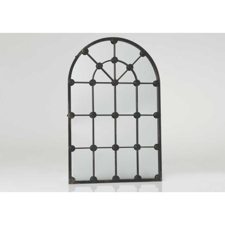 Miroir fenêtre en métal Grande demeure