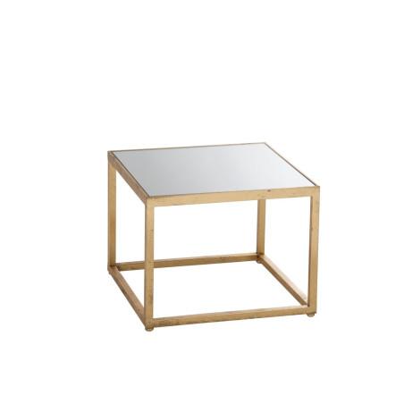 Bout de canapé carré métallique Or