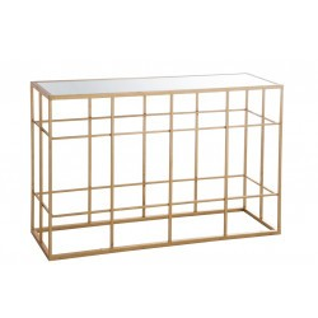 Console rectangulaire métallique doré