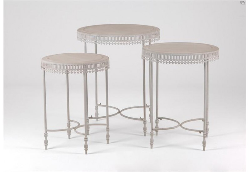 Set de 3 Tables Rondes Amandine