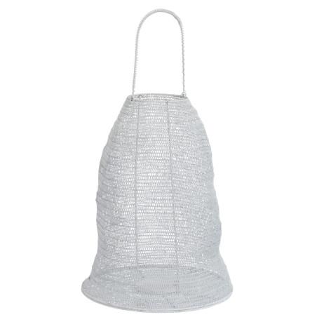 Lanterne Gaze métal blanche