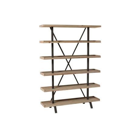 Etagère moderne en bois et métal 6 niveaux