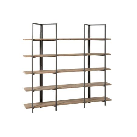 Bibliothèque 5 planches en bois naturel