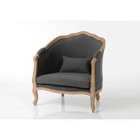 fauteuil bergère gris foncé Délicat