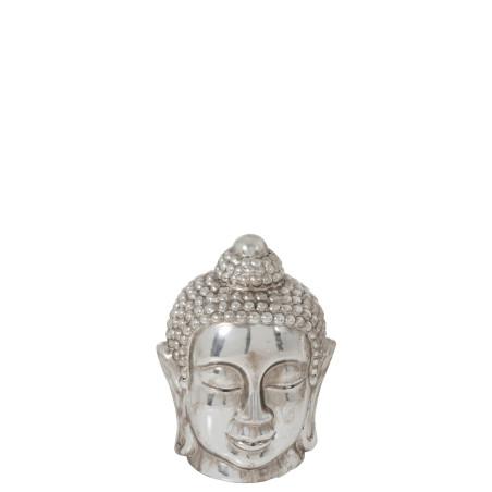 statue Bouddha céramique argenté