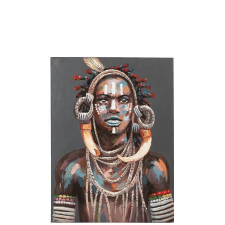 Toile Bohème Ethnique chic homme africain tribal multicolore