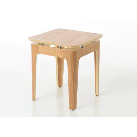 Bout de canapé carré en bois naturel Frêne