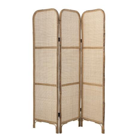 Paravent 3 panneaux en rotin et bambou tressé naturel