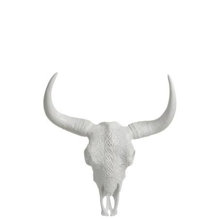 Crâne décoration murale blanche Ibiza