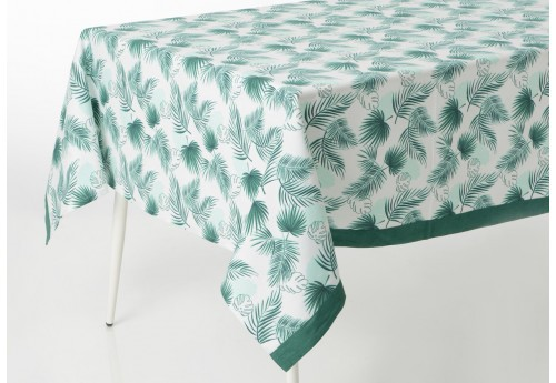 Nappe rectangulaire tropicale feuille palmiers vert