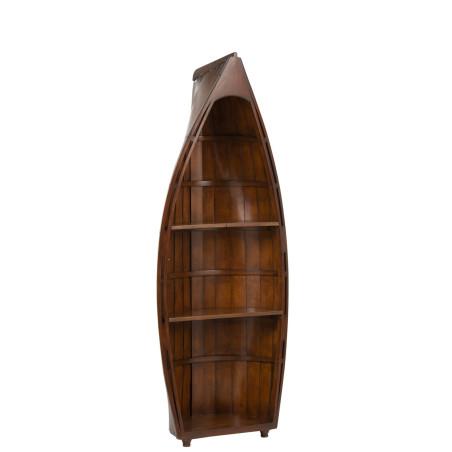 Étagère forme bateau en bois marron chic