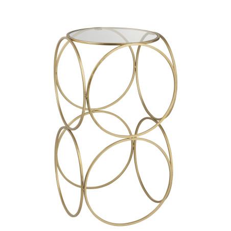 Sellette ronde moderne en métal Or Cercle