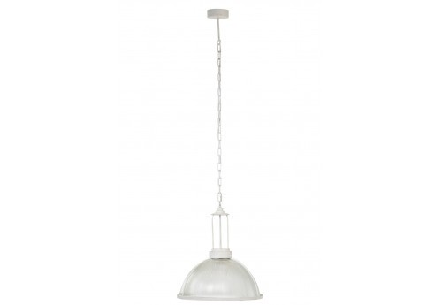Suspension ronde industriel blanche