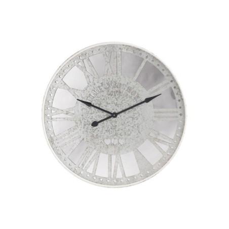 Grande horloge miroir et zinc vieilli gris