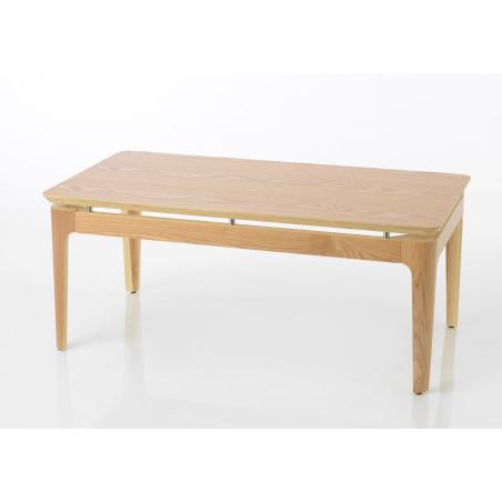 Table basse moderne rectangulaire Frêne