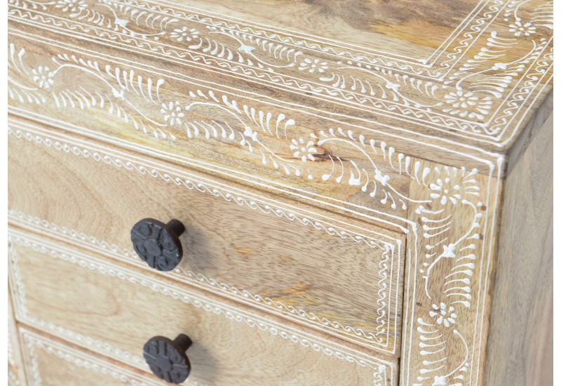 Table de chevet exotique Inde