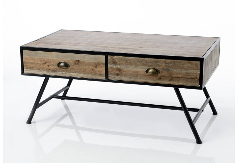 Table basse industriel Coquille