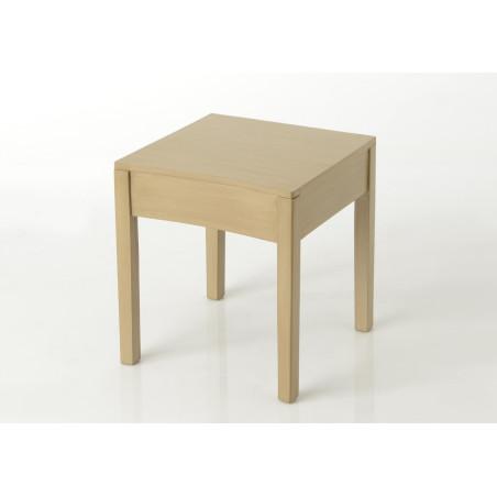 Bout de canapé en bois couleur chêne clair Tonkin