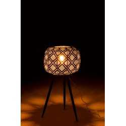 Lampe trepied couleur or