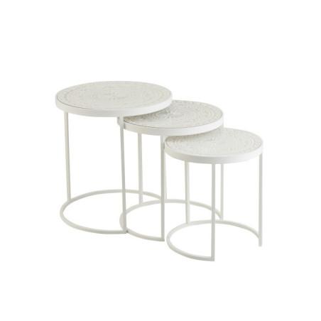 Set de 3 Tables Gigognes hautes métal et bois Jolipa