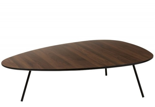 Table de Salon Triangulaire Bois Tea Tree Marron