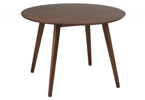 Table Ronde Vintage Bois Marron