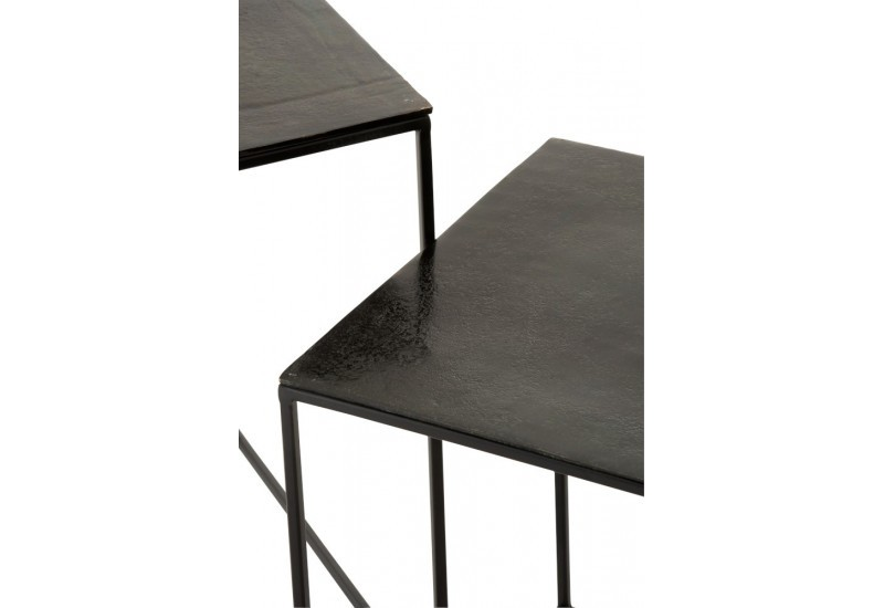 Set de 2 Table Gigogne Carree Oxidize