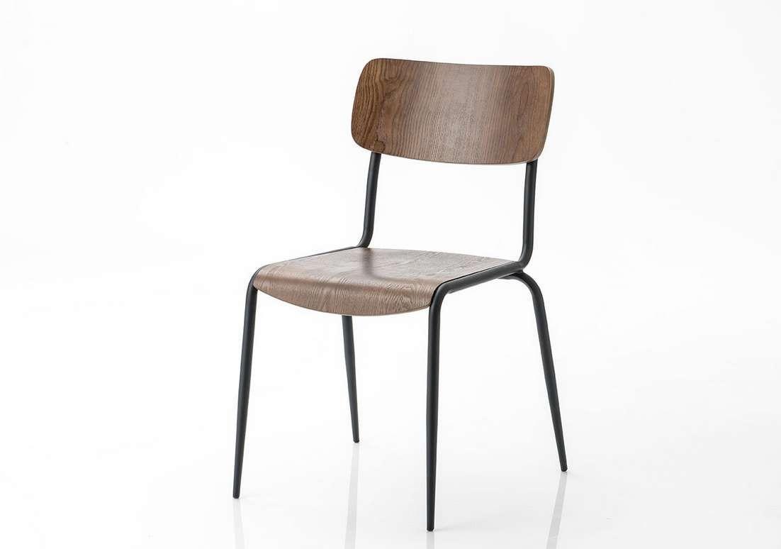Lot de 2 chaise écolier noire Amadeus