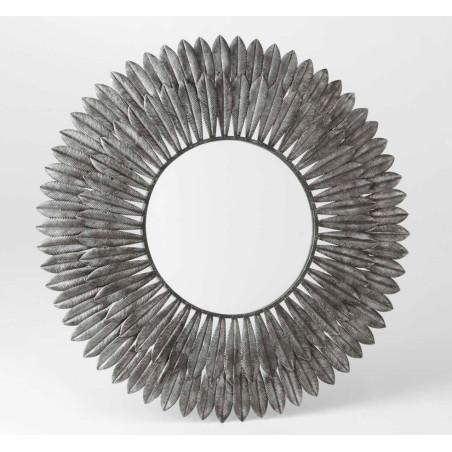 Miroir Plume argenté Amadeus