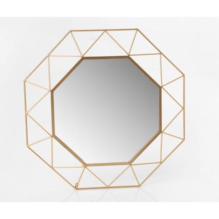 Miroir Octogone doré Amadeus