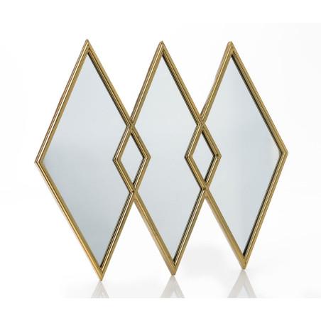 Miroir Losange doré Amadeus