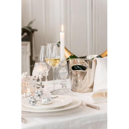 Seau à champagne ovale argenté J-line