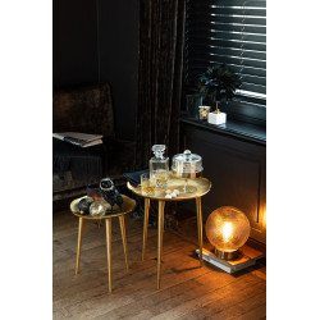 Set de 3 Tables gigognes Baroque en métal doré J-Line