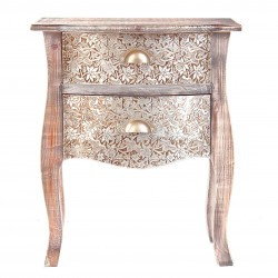 Table de chevet galbée exotique SILVER VI