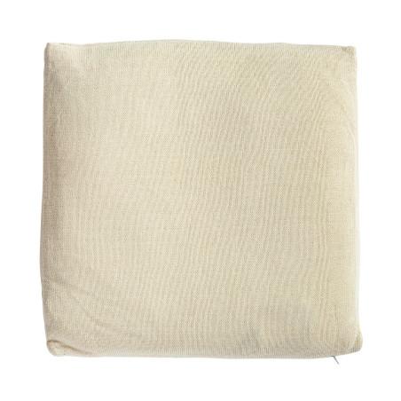 Coussin carré blanc grosse maille 45X45CM