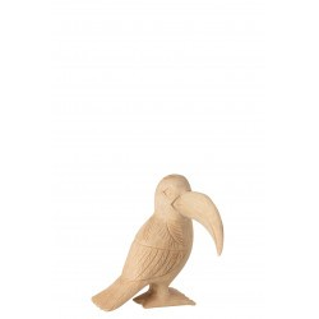 Statuette Toucan en bois naturel