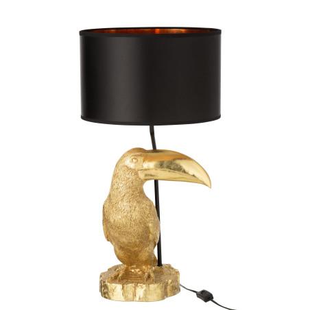 Lampe Toucan noir et or Jolipa