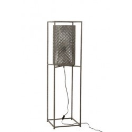 Petite lampe en métal gris J-line