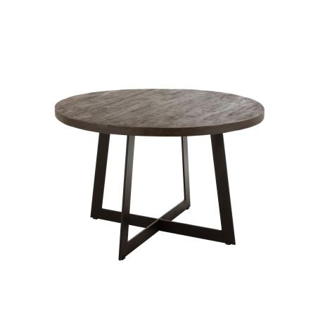 Table de salle à manger bois massif Fien 6 personnes
