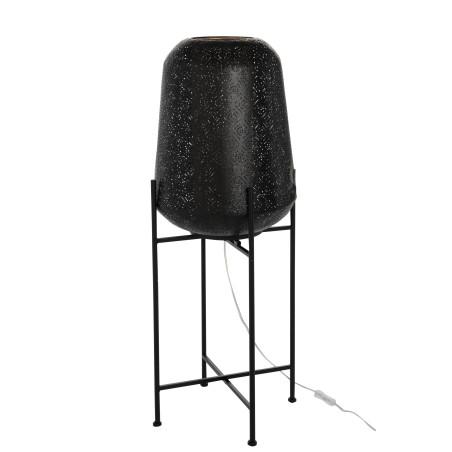 Lampe orientale métal noir sur pieds