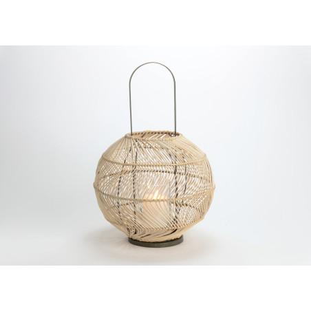 Lanterne Boule en rotin