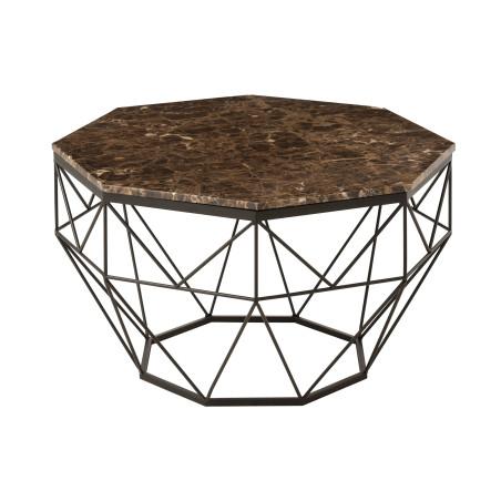 Table de salon Octogone métal marbre