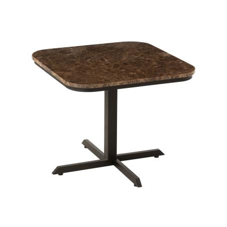 Petite table carrée Octogone métal marbre