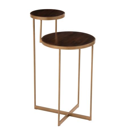 Table d'appoint Rafi bois massif métal
