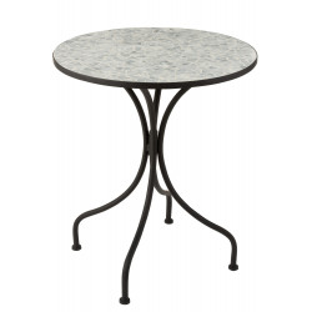 Table Eclat Mosaïque métal verre