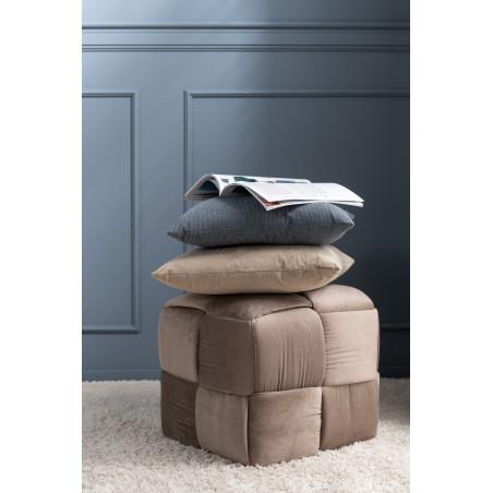 Pouf Design marron Bois/Textile